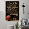 (cv819) LHD basketball poster - Mom to daughter - never lose french vs
