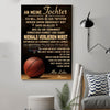 (cv823) LHD basketball poster - Mom to Daughter - never lose German vs