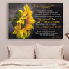 (cv960) LHD sunflower poster - Mom to daughter - never lose