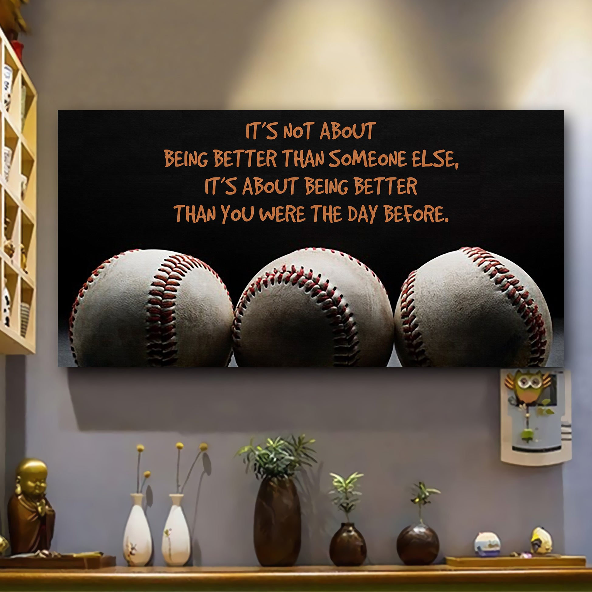 (LP200) Customizable Baseball Poster canvas - It's not about - FREE SHIPPING ON ORDERS OVER 75$