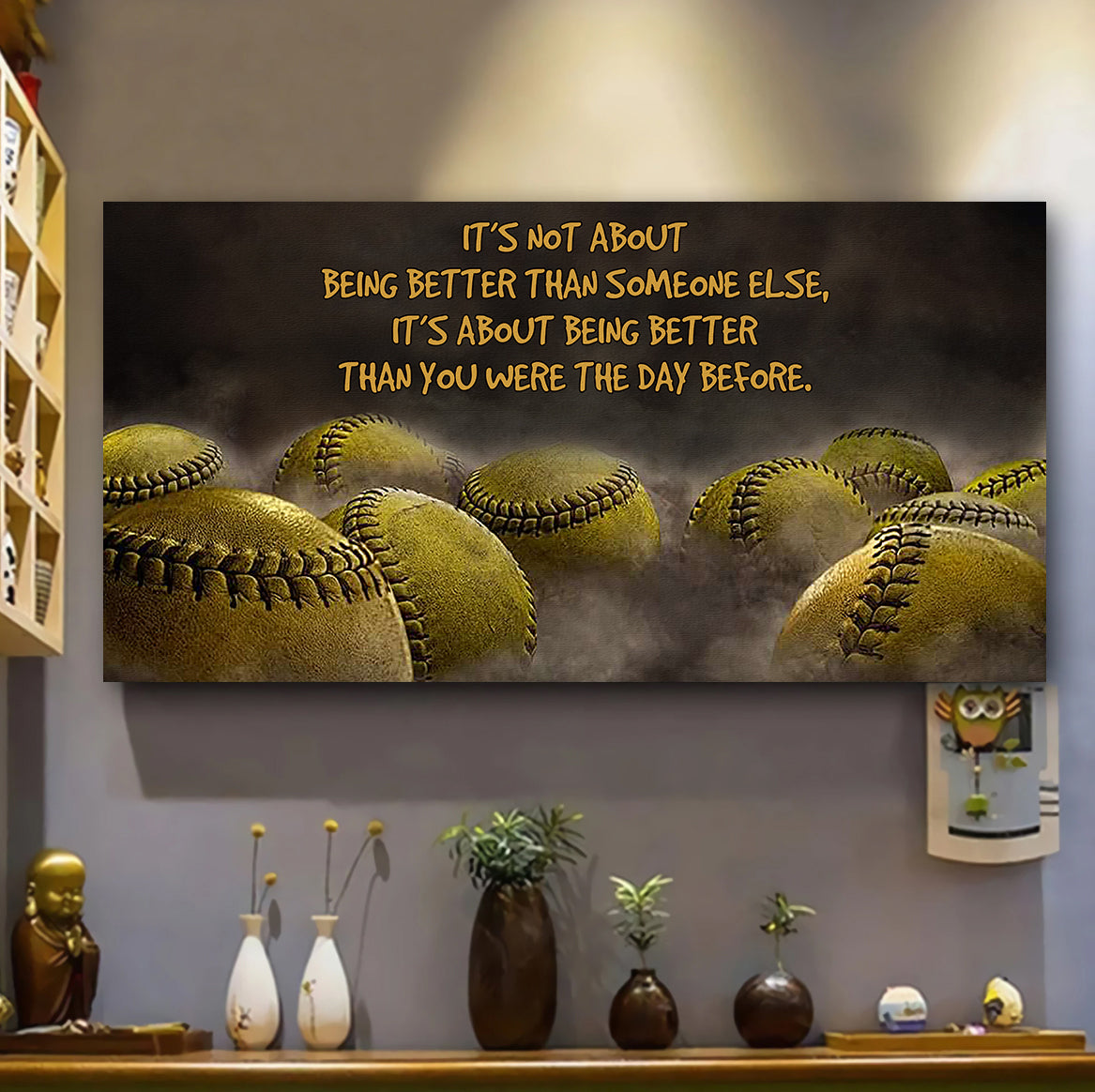 (LP315) Customizable softball Poster, Canvas – It's not about. FREE SHIPPING ON ORDERS OVER $75