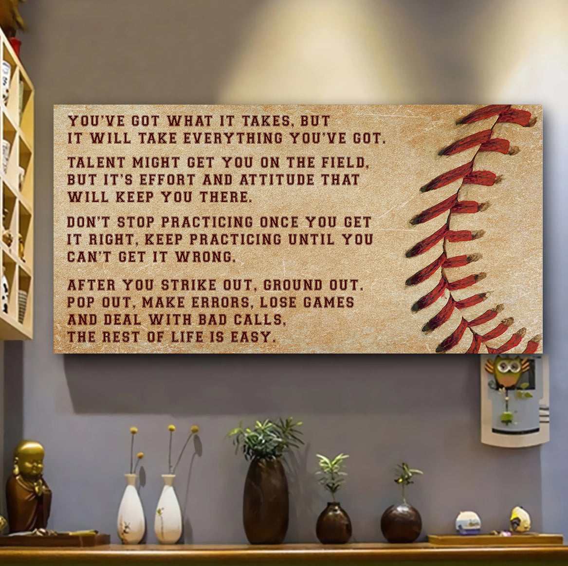 (LP350) Customizable Baseball Canvas - You've got - FREE SHIPPING ON ORDERS OVER $75