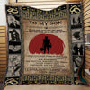 (QL80) LDA American football quilt - Dad Son Never feel that you are alone