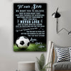 (cv1078) LVL Football poster - Dad and mom to son - Never lose
