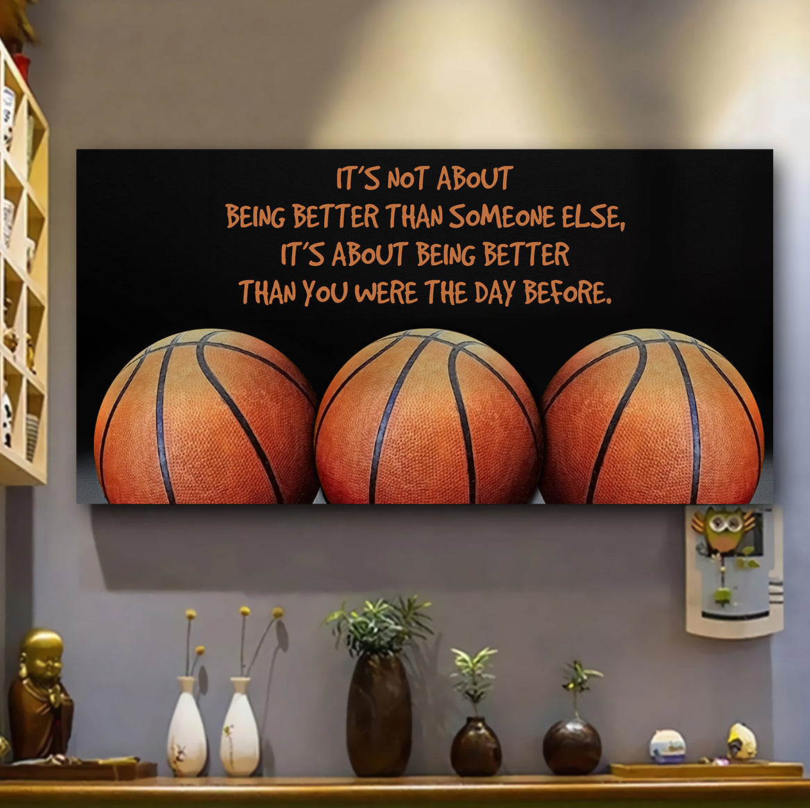 (QH657) Customizable basketball poster - It's not about better  - FREE SHIPPING ON ORDERS OVER $75