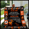(QL534) LHD basketball quilt - To my son - never lose