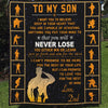 (QL22) LHD rectangle soldier quilt - Dad to Son - never lose