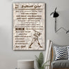 (cv1203) LVL Softball poster - Dad to daughter - You are strong