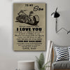(cv1223) LVL Biker poster - Dad to son - Your way back home