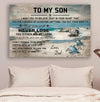 (cv1076) LHD Turtle poster - Dad to son - Never lose blue