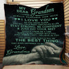 (Ql53) LHD family quilt - grandma to grandson - always remember
