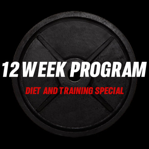 12 Week Diet & Training 1 on 1 coaching