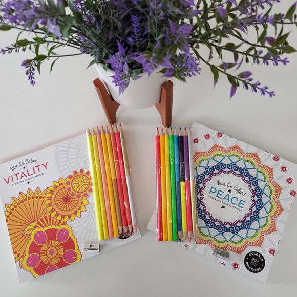 Vive Le Color! (Adult Coloring Book and Pencils)