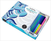 Vive Le Color! Serenity (Adult Coloring Book and Pencils)