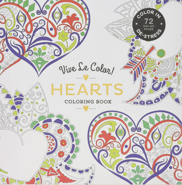 Vive Le Color! Hearts (Adult Coloring Book)
