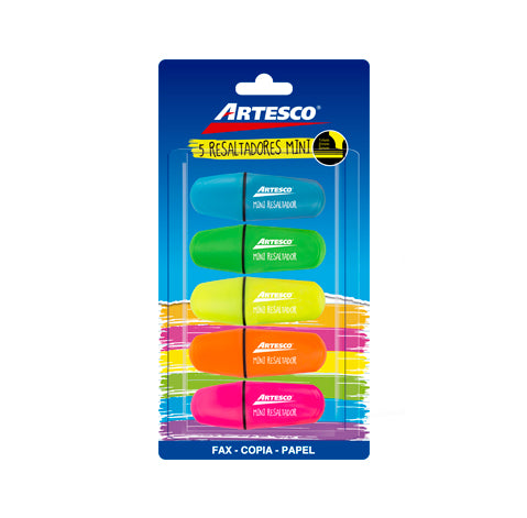 Resaltadores Mini - 5pk.- Artesco