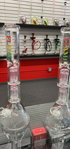 FLAME DOUBLE TREE PERC BONG