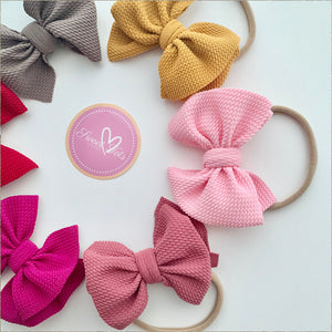 Messy Bows in Nylon Band - Sweet Tots