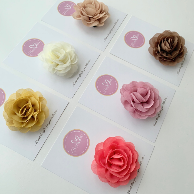 Poppy Floral Hair Clips - Sweet Tots