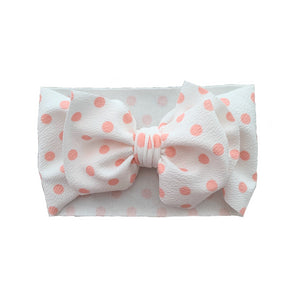Pink-Dots Messy Bow - Sweet Tots