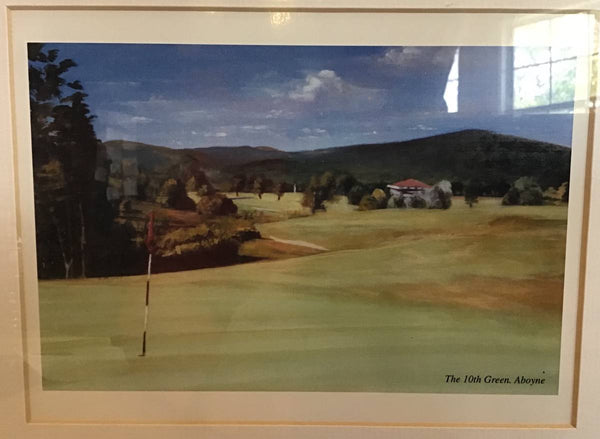 GOLF PICTURE OF THE 10TH GREEN AT ABOYNE