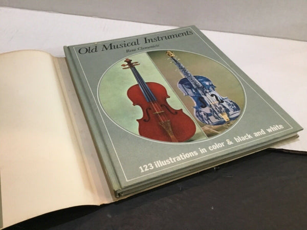 1968 OLD MUSICAL INSTRUMENTS ILLUSTRATED BOOK BY RENE CLEMEICIC