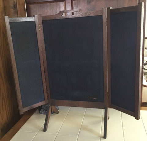 Antique Wooden Fireplace Screen