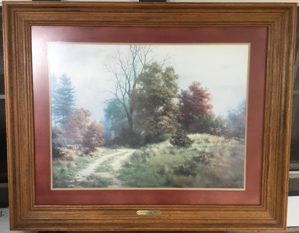 "Dalhart Windberg ""In Seasonal Attire"" Signed Lithograph Print Framed"