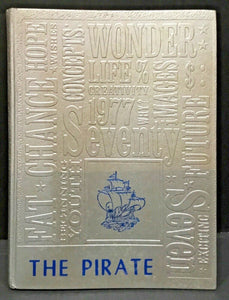 "1977 ""THE PIRATE"" ANNUAL CLEVELAND-SHEPHERD, TX YEARBOOKS BY TAYLOR"