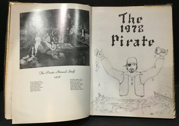 "1978 ""THE PIRATE"" ANNUAL CLEVELAND-SHEPHERD, TEXAS YEARBOOKS BY TAYLOR"