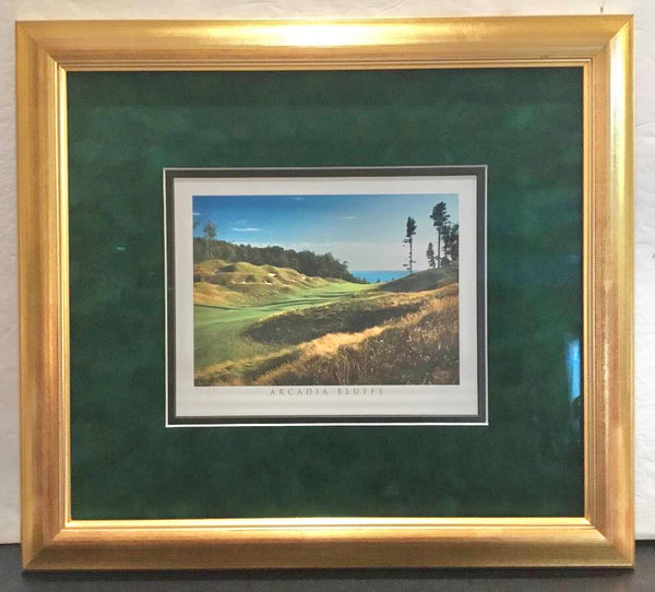 ARCADIA BLUFFS GOLF COURSE TRAVERSE CITY, MICHIGAN FRAMED AND MATTED PRINT