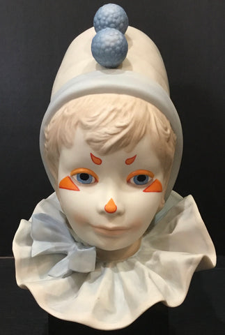 "1976, Cybis Child Clown Head ""Funny Face"" Sculpture by William Pae"
