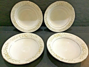"SET OF (4) CROWN VICTORIA CHINA CAROLYN 5-5/8"" BERRY DESSERT SAUCE BOWLS"