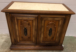 STANLEY FURNITURE SERVER WITH INLAID MARBLE TOP