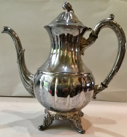 ENGLISH SILVER SILVERPLATE COFFEE TEA POT WITH HINGED LID 4334