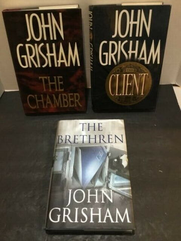 LOT OF (3) JOHN GRISHAM HARDBACK BOOKS WITH DUST JACKETS FIRST EDITIONS