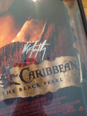 Framed Pirates Of The Caribbean Signed Movie Poster