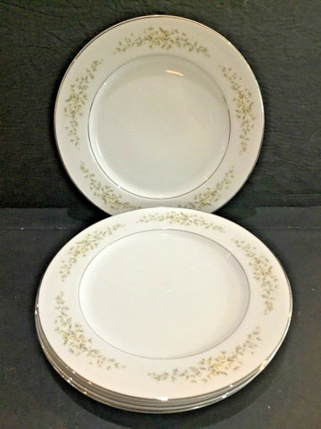 "SET OF (4) CROWN VICTORIA CHINA CAROLYN 10-3/8"" DINNER PLATES"