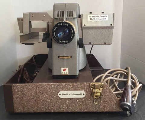 VINTAGE TDC STREAMLINE 500 MOD. 150 3D ELECTRIC CHANGER BY BELL & HOWELL