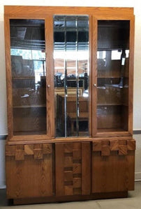 Lighted Oak China Cabinet