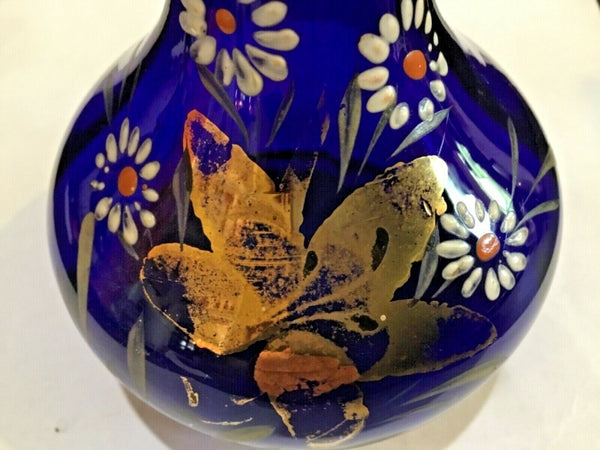 Hand Blown Cobalt Blue Glass Vase