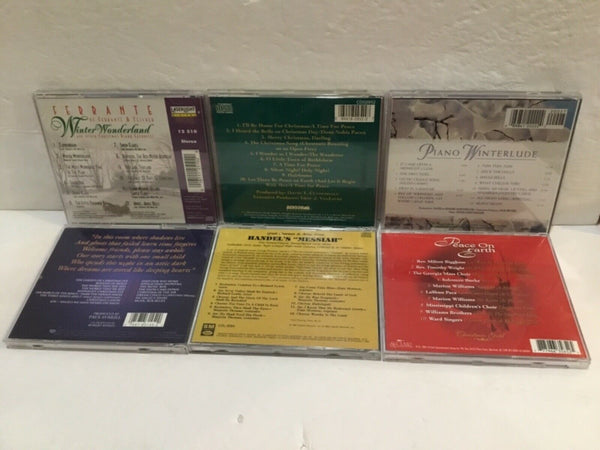 LOT OF (6) CHRISTMAS MUSIC CD'S TRANS-SIBERIAN ORCHESTRA, DINO, FERRANTE & OTHERS