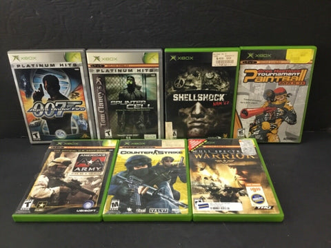 LOT OF (7) MICROSOFT XBOX GAMES (SEE DESCRIPTION FOR DETAILS)