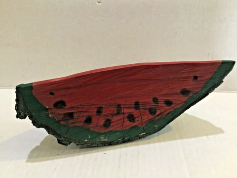"WOODEN WATERMELON SLICE 9"" COUNTRY DECOR"