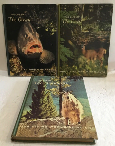LOT OF (3) OUR LIVING WORLD OF NATURE HARDCOVER BOOKS FROM MCGRAW-HILL