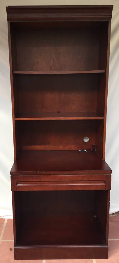 MOLLAI COLLECTION CHERRY FINISH CABINET WITH HUTCH