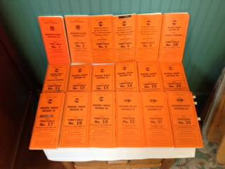LOT OF 18 DIFFERENT 70's & 80's MISSOURI PACIFIC RAILROAD CO. TIMETABLES