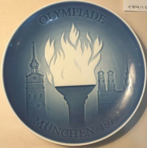 "1972 BING & GRONDAHL B&G OLYMPIC MUCHEN MUNICH 7"" FIRST ISSUE PLATE"