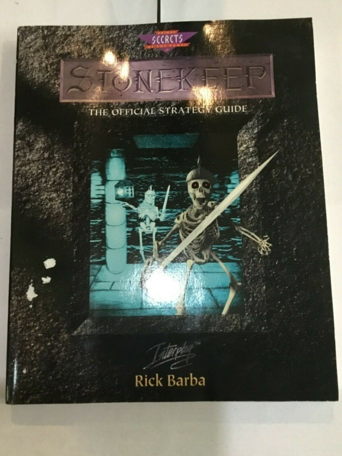 1995 STONEKEEP OFFICIAL STRATEGY GUIDE (SECRETS OF THE GAME) BY RICK BARBA