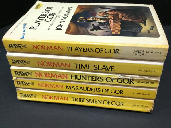 LOT OF (5) GOR SCI-FI PAPERBACK BOOKS DAW BY JOHN NORMAN